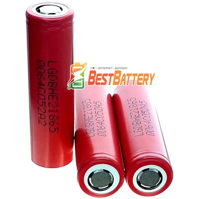 Аккумулятор 18650 LG HE2 2500 mAh 20A, высокотоковый Li-Ion, 3,7В (4,2В). Оригинал, Корея.