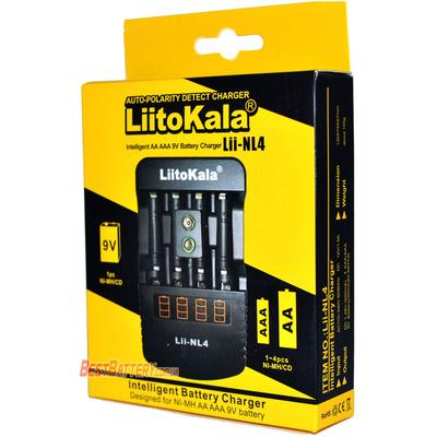 Зарядное устройство Liitokala Lii-NL4 для пальчиковых, минипальчиковых аккумуляторов и аккумуляторов Крона.