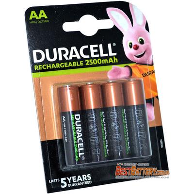 Пальчиковые аккумуляторы Duracell 2500 mAh Rechargeable 4 шт. в блистере, ААА, LSD, RTU.