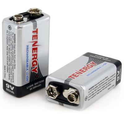 Li-ion аккумуляторы Tenergy Крона 9V 600 mAh. Аккумуляторы Крона повышенной ёмкости от Tenergy.