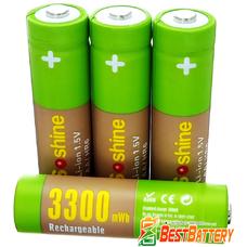 Аккумулятор АА Soshine 1.5V Li-Ion 3300 mWh поштучно - пальчиковые АКБ с напряжением 1.5В. Цена за 1 шт.