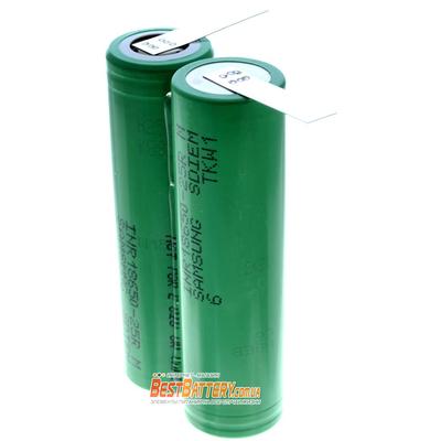 Аккумуляторная сборка 2S1P 2500 mAh 7,4В для электроинструмента на базе аккумуляторов 18650 Samsung 25R.