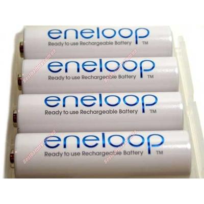 Panasonic Eneloop 2000 mAh (min. 1900 mAh) BK-3MCCE в боксе - 4 поколение аккумуляторов Eneloop. Цена за уп. 4 шт.