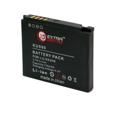 Аккумулятор Extradigital для LG KU990 (750 mAh)