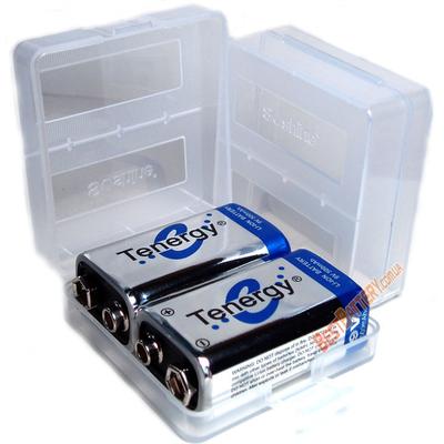 Бокс Soshine для хранения 2-х аккумуляторов Крона (SBC-018).