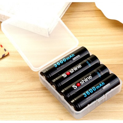 Аккумулятор 18650 Soshine 3600 mAh Li-Ion 3,7В C защитой (Protected). Повышенная ёмкость!