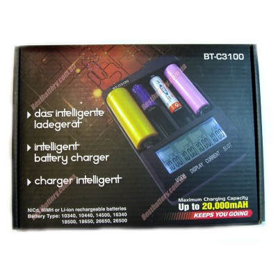 Opus BT C3100 - интеллектуальное зарядное устройство для Ni Cd/Ni Mh и Li Ion аккумуляторов.
