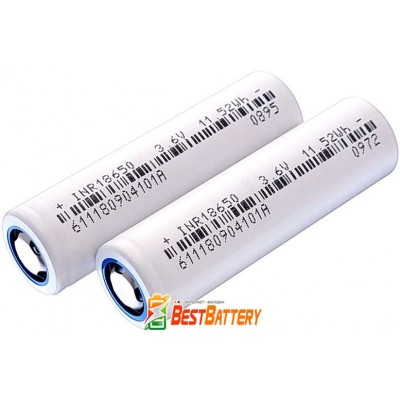 Аккумулятор 18650 DLG INR18650-320 3200 mAh 3.7В, 9.6А, Li-Ion без защиты. (Аналог Panasonic NCR18650BD).