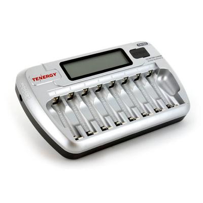 Tenergy TN 162 - зарядное устройство на 8 аккумуляторов (АА и ААА) с функцией разряда + Автоадаптер.