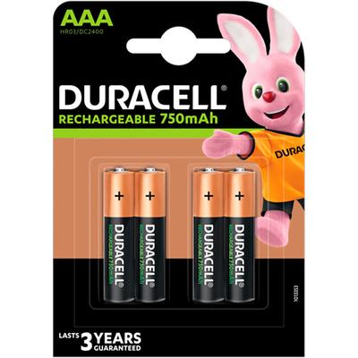 Минипальчиковые аккумуляторы Duracell 750 mAh Rechargeable 4 шт. в блистере, ААА, LSD, RTU.