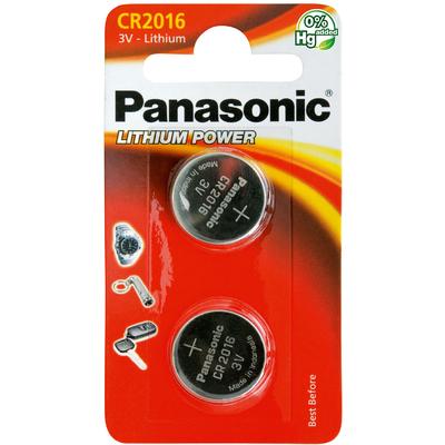 Батарейка литиевая Panasonic Litium Power CR 2016 EL 3V. Цена за уп. 2 шт.