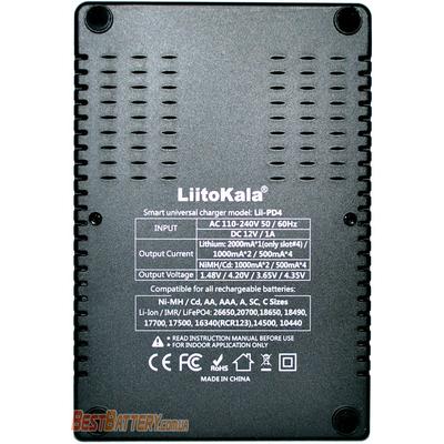 Зарядное устройство LiitoKala Lii-PD4 для АА, ААА, 18650, 16340 и др. аккумуляторов с дисплеем. Ток - 2А.