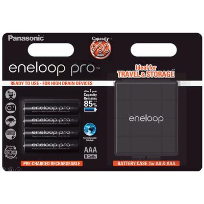 ААА аккумуляторы Panasonic Eneloop Pro 980 mAh (min. 930 mAh) BK-4HCDE 4BE с Боксом Eneloop. Цена за уп. 4 шт. + Бокс.