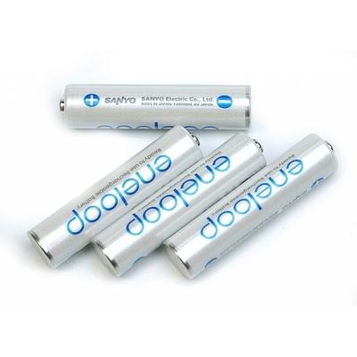 Sanyo Eneloop 800 mAh (HR-4UTGВ) - минипальчиковые аккумуляторы от Sanyo упакованные в блистер. Цена за уп. 4 шт.