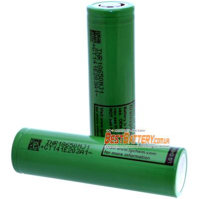 Аккумулятор 18650 LG INR18650 MJ1 3500 mAh 3,7В Li-Ion без защиты (промышленный), ток до 10A.