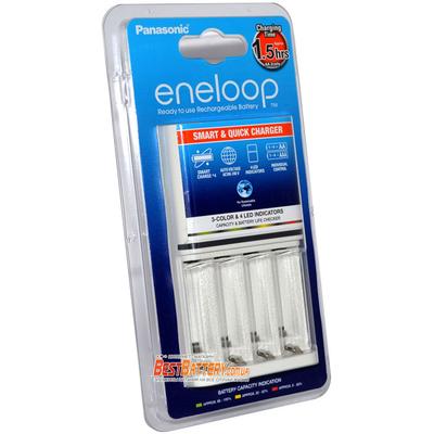 Быстрое зарядное устройство Panasonic Eneloop BQ-CC55E Quickcharger на 4 АА и 4 ААА аккумулятора.