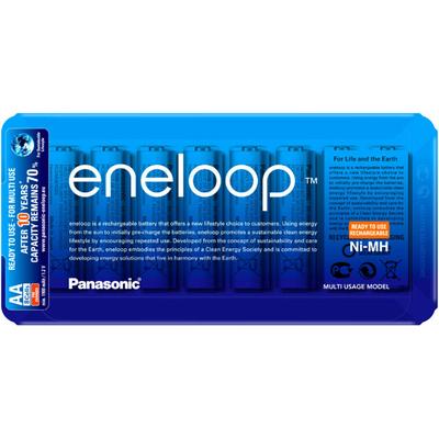 Panasonic Eneloop AA 2000 mAh (min 1900 mAh) BK-3MCCE 8LE 8 шт. в пластиковом блистере. Цена за уп. 8 шт.