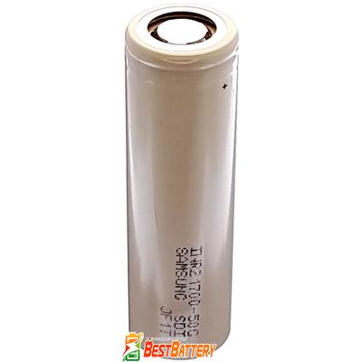 Аккумулятор 21700 Samsung INR 50G 5000 mAh, без защиты, Li-Ion, Высокотоковый - 9.8A (14.7А). Оригинал - Korea.