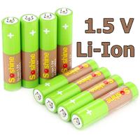 Минипальчиковые ААА аккумуляторы на 1,5В (Li-Ion).