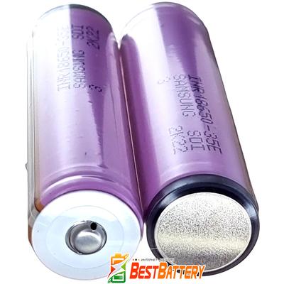 Аккумулятор 18650 Samsung INR 18650 35E 3500 mAh Li-ion 3.7V, 8А. С защитой. Оригинал - Корея.