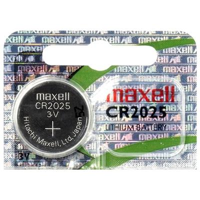 Батарейка литиевая Maxell CR 2025, 3V, блистер. Japan. Цена за 1 шт.
