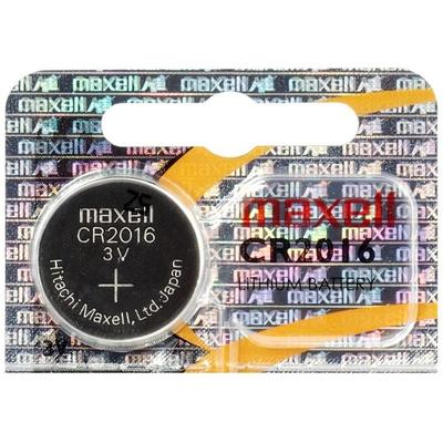 Батарейка литиевая Maxell CR 2016, 3V, блистер. Japan. Цена за 1 шт.
