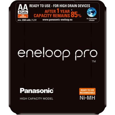 Panasonic Eneloop Pro 2600 mAh (min 2500 mAh) BK-3HCDE/4LE (min. 2500 mAh) в пластиковом блистере. Цена за уп. 4 шт.
