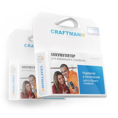 Аккумулятор Craftmann для Motorola V8 (BX40). Ёмкость 800 mAh.
