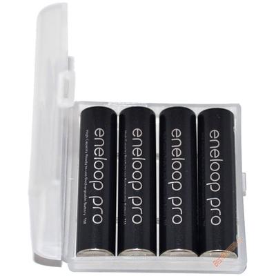 Минипальчиковые аккумуляторы Panasonic Eneloop Pro 980 mAh (min 930 mAh) BK-4HCDE в пластиковом боксе. Цена за уп. 4 шт.