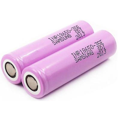 Аккумулятор 18650 Samsung INR 18650 35E 3500 mAh Li-ion 3.7V, 8А (13А) без защиты (промышленный АКБ).