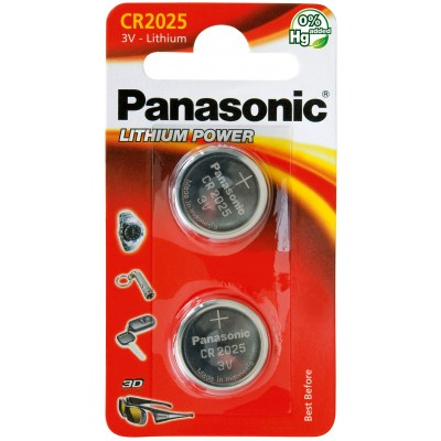 Батарейка литиевая Panasonic Litium Power CR 2025 EL 3V. Цена за уп. 2 шт.