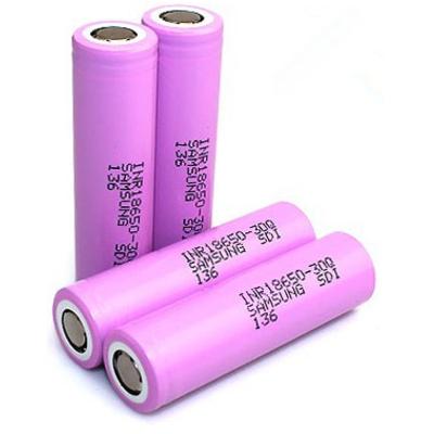 Аккумулятор 18650 Samsung INR 18650 30Q 3000 mAh, 3,7В, 15A (30A). Li-Ion, Высокотоковый, без защиты.