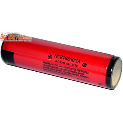 Аккумулятор 18650 Panasonic / Sanyo NCR 18650GA 3500 mAh с защитой (Protected) Li-Ion. 10A.