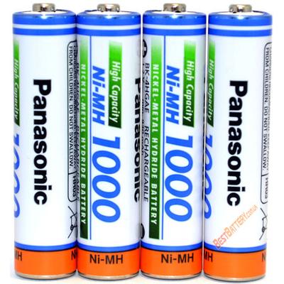 Минипальчиковые ААА аккумуляторы Panasonic 1000 mAh (min 930 mAh) BK 4HGAE без упаковки. Япония. Цена за 1 шт.