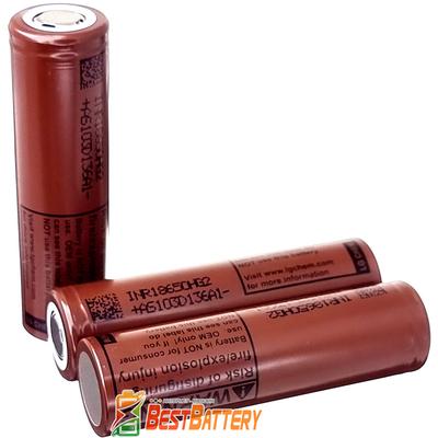 Аккумулятор 18650 LG HG2 3000 mAh 20A (30А) Высокотоковый Li-Ion INR. Оригинал - Корея. Шоколадка.