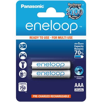 Panasonic Eneloop 800 mAh (min 750 mAh) BK-4MCCE/2BE - минипальчиковые аккумуляторы в блистере. Цена за уп. 2 шт.
