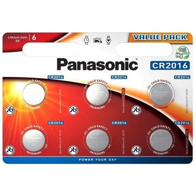 Батарейка литиевая Panasonic Litium Power CR 2016 EL 3V. Цена за уп. 6 шт.
