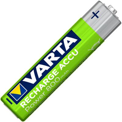 Varta 800 mAh Recharge Accu Power в блистере. Минипальчиковые аккумуляторы Varta.