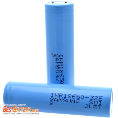 Аккумулятор 18650 Samsung INR 18650 32E 3200 mAh Li-Ion, 3.7В, 6.4A, без защиты. Оригинал.
