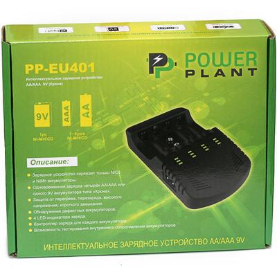 Зарядное устройство Power Plant PP EU401 для пальчиковых, минипальчиковых аккумуляторов и аккумуляторов Крона.