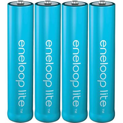 AAA аккумуляторы Panasonic Eneloop Lite 600 mAh (min 550 mAh) в боксе. 3000 циклов заряд/разряд. Цена за уп. 4 шт.