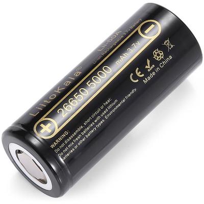 Li-Ion аккумулятор 26650 Liitokala Lii 50A 5000 mAh без защиты, 10A (25A).