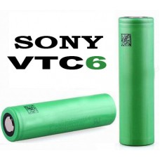 Аккумулятор 18650 Sony / Murata US18650 VTC6 3120 mAh, Li-Ion 3.7В. Высокотоковый - 30А (80A). Оригинал - JAPAN.