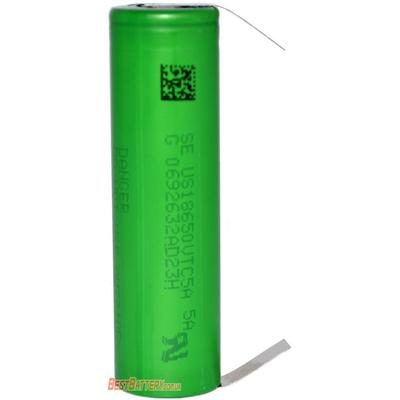 Аккумулятор 18650 Sony / Murata US18650 VTC5A 2600 mAh, Li-Ion 3,7В, 35А (70А) Высокотоковый с лепестками под пайку. Япония.