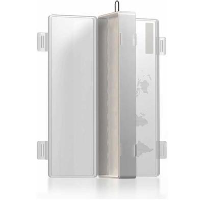 Бокс на 24 АА аккумулятора (кейс, футляр). Белый с прозрачной крышкой.