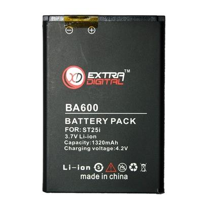 Аккумулятор Extradigital для Sony Ericsson BA600 (1320 mAh)