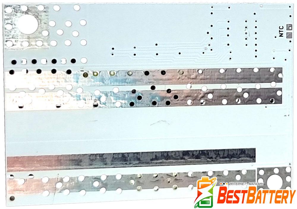 Контроллер BMS 5S 100A 18В обеспечивает защиту Li-Ion аккумуляторов по четырем параметрам.
