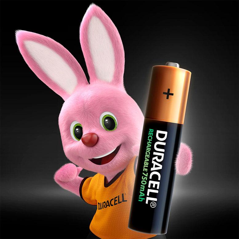 Минипальчиковые аккумуляторы Duracell 750 mAh AAA в блистере 4 шт.
