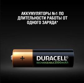 Реальная высокая ёмкость у аккумуляторов Duracell AA в 2500 mAh.