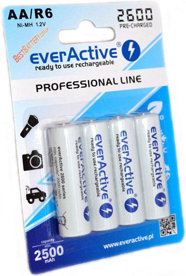 EverActive 2600 mAh AA - низкосаморазрядные (LSD) пальчиковые аккумуляторы